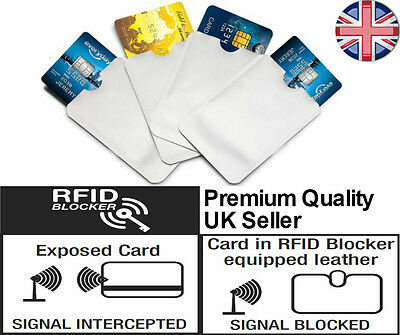 RFID Sleeves To Protect Your Wireless Bank/Debit/Credit Card Signals. Safety