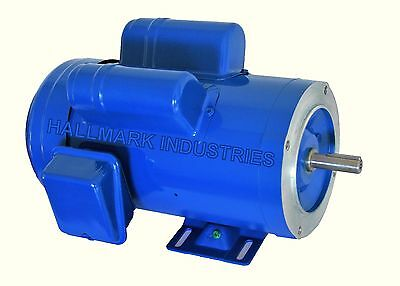 AC MOTOR, 2HP, 1750 RPM, 1PH, 115V/208-230V,  56C/TEFC, With base