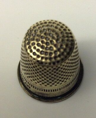 Nice Old Antique Vintage Sterling Silver Sewing Thimble Very Nice Condition