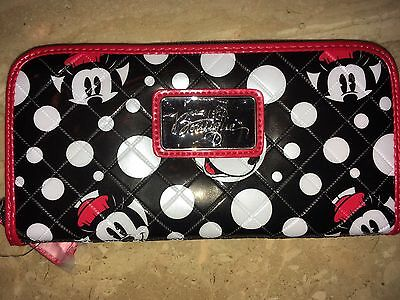 Disney Minnie Mouse Loungefly Dots Red Black WALLET Authentic