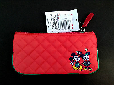 DISNEY PARKS Purse MICKEY and MINNIE MOUSE Quilted Change Bag NWT