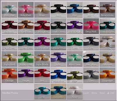 Satin Ribbon 10mm wide x 23 metres long Choice of 36 Colours ~ CLEARANCE SALE~