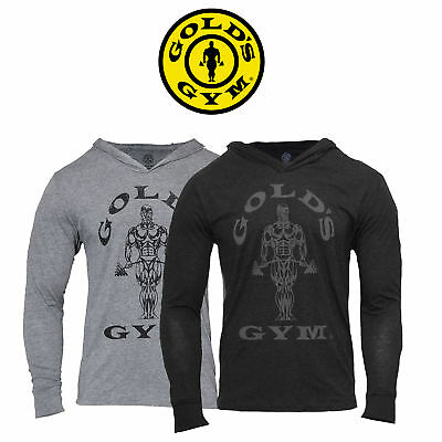 Gold's Gym Tri Blend Hoodie Pullover Golds Fitness Muscle Joe Sweatshirt Kapuze