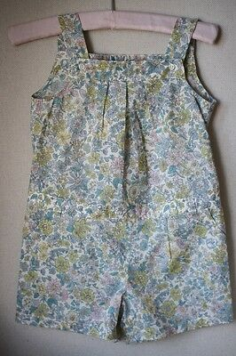 Bonpoint Baby Girls Siloe Liberty Blue Floral Playsuit 3 Years