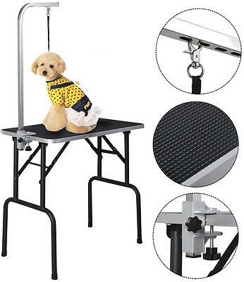 Pet Dog Cat Grooming Table New 32 in Inch Adjustable Top Foam W/Arm and Noose