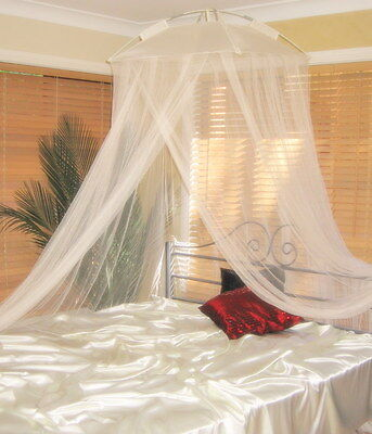 Cream Mosquito Net Modern Classic Resort Bed Canopy - One Size Fits all Beds