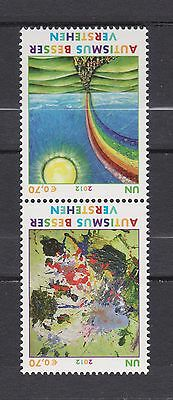 s10755a) UNITED NATIONS (Vienna Wien) MNH** 2012, Autism awareness 2v