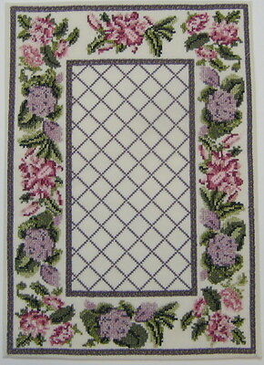 Miniature Dollhouse machine embroidered ready made rug on cotton