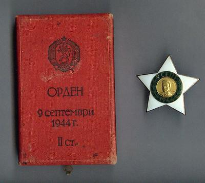 Bulgaria old  Order 9th of September 1944 2nd class 1st emission  + box