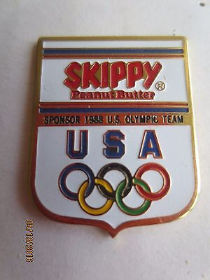 Vintage Skippy Peanut Butter 1988 Olympic Pin