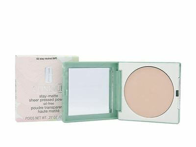 Clinique Stay-Matte Sheer Pressed Powder 7.6g 02 Stay Neutral