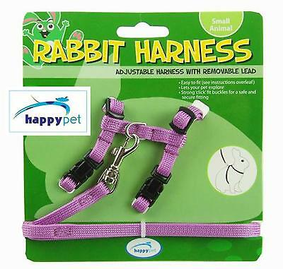 HAPPYPET Rabbit Harness and Lead Set PURPLE OR GREEN