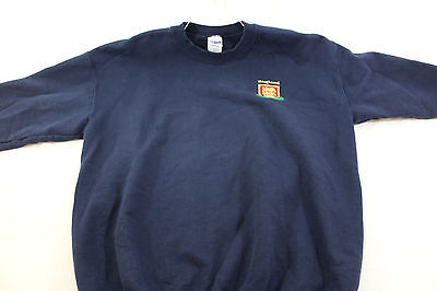 Large blue 'England' embroidered sweatshirt
