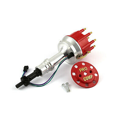 fits Ford 302 351C Cleveland Early 460 8400 Series Pro Billet Distributor [Red]