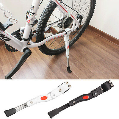 Adjustable Mountain Bike Stand Bicycle 2 Colours Rubber Foot Heavy Kickstands