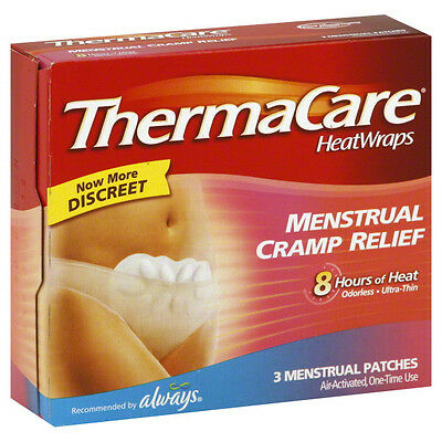 ThermaCare Therapeutic Heat Wraps Menstrual Cramp Relief Patches 3/box