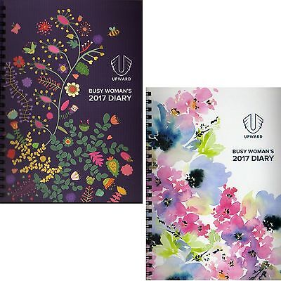 DIARY Busy Woman's 2017 Pink Purple designs Week Spread A5 Spiral Year Planner