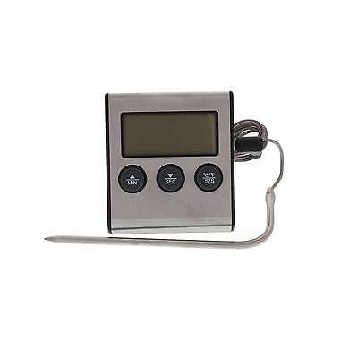 Digital Thermometer With Stainless Probe and Alarm Home Brew