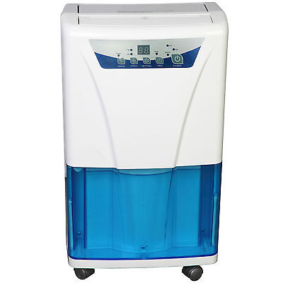 HOMCOM Portable Dehumidifier Air Purifier Dryer Ioniser and Filter Damp 14L/Day