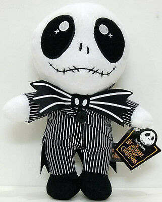 Disney Nightmare Before Christmas JACK Embroidered Eye Plush Toy Doll Gift White