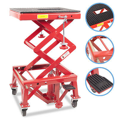 135kg 300lb MOTOR CYCLE QUAD BIKE REPAIR SERVICE WORKSHOP DIY SCISSOR LIFT JACK