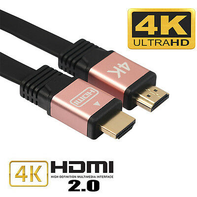 Premium câble HDMI v2.0 or rose Haute Vitesse HDTV Ultra HD 2160p 4K 3D Ethernet
