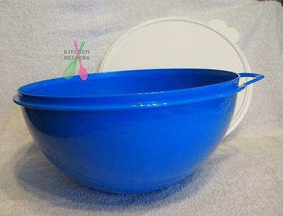 Tupperware Mixing Thats a Bowl 7.5 Ltr Bowl- Blue - Brand New