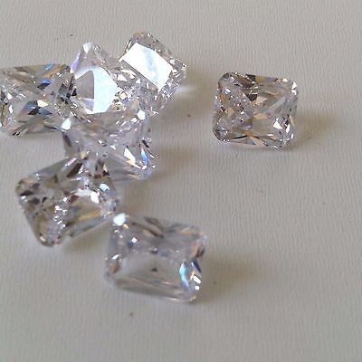 White - Octagon - Cubic Zircon Loose Stones  CZ  Lots IF Wholesale USA  - AAA