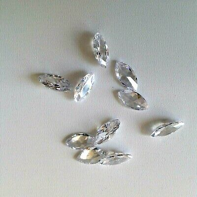 White - Marquis Cubic Zircon Loose Stones CZ Lots IF Wholesale USA  - AAA