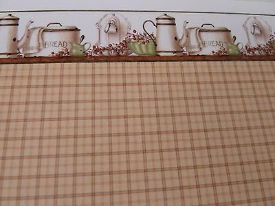 Dolls House Miniature 1:12 Scale  Kitchen Enamelware Green Wallpaper