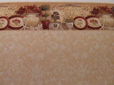 Dolls House Miniature 1:12 Scale Heirloom Yellow White Damask Wallpaper