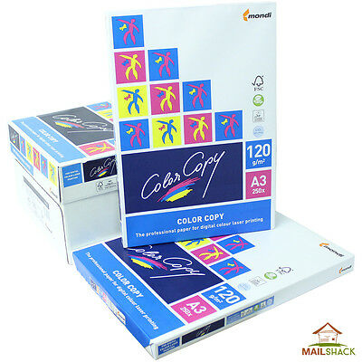 Color Copy A3 White Paper PREMIUM 120gsm Printing 1 2 3 4 5 Reams Of 250 Sheets