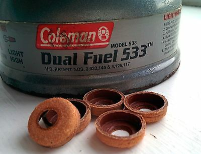 One Coleman Leather Pump Cup -Fits All Coleman Stoves, Lanterns (washer seal)