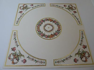 Dolls House Emporium Miniature 1:12 Scale Floral Swags Ceiling Rose Cut Out