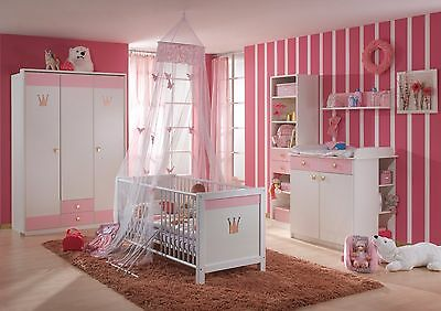 Cinderella Princess Baby Girls Nursery Bedroom Furniture Bed Wardrobe Set German
