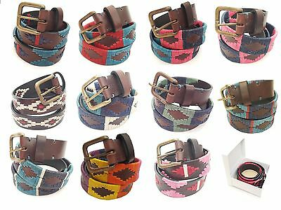 Polo Belt  Argentinian Gaucho Brown Leather  Belt - Assorted Colors & Sizes