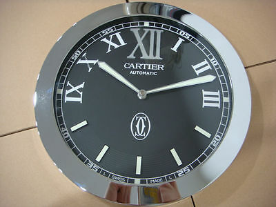 Home Decor - 34cm Cartier Black Wall Clock