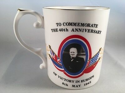 Caverswall China 40th Anniversary of VE Day Commemorative Cup 1985