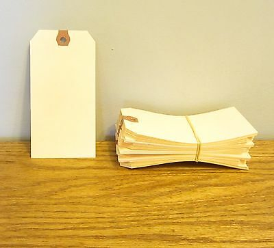 """125 Avery Dennison Manilla #6 Blank Shipping Tags 5 1/4"""" By 2 5/8"""" Scrapbook"""