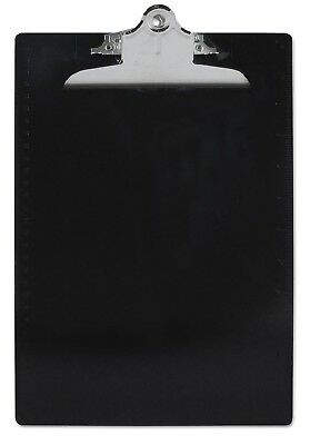 """Saunders Plastic Antimicrobial Clipboard 1 Capacity Holds 8 1/2""""W x 12"""" H Black"""