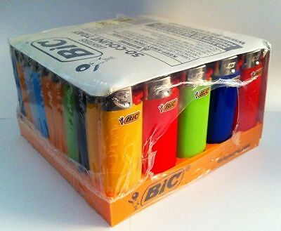 50 Pack Bic Lighters Full Disposable Bulk Wholesale Comes With Tray And Sealed
