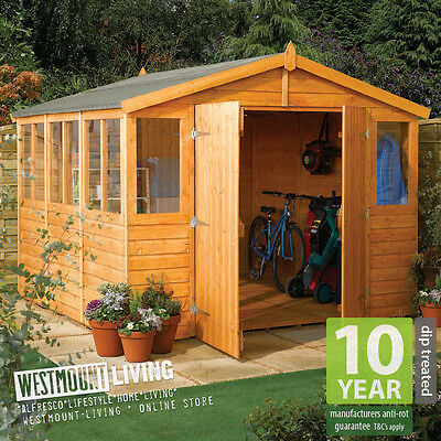 NEW 9x9FT 9x12FT 9x15FT 9x18FT LARGE WOODEN SHIPLAP T&G TIMBER WORKSHOP SHED