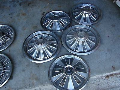 FIVE 1965-1966 MERCURY MUSTANG  Ford 14 INCH HUBCAPS