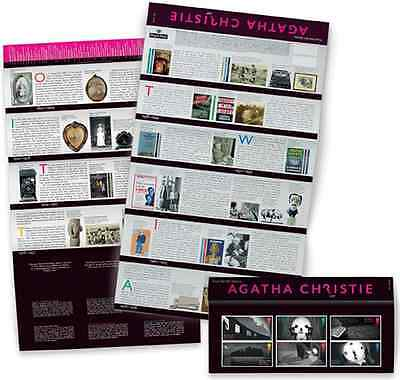 GB UK 2016 Agatha Christie 6 stamp Presentation Pack MNH Unusual hidden clues