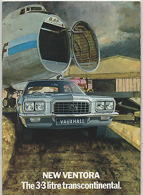 Vauxhall - New Ventora 3.3 Litre - 1972  Uk Market 16 Page  Sales  Brochure.