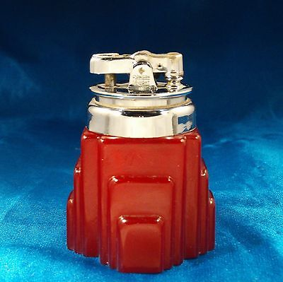 Vintage Ronson De-Light New Yorker Red Bakelite Lighter, Vintage 1929