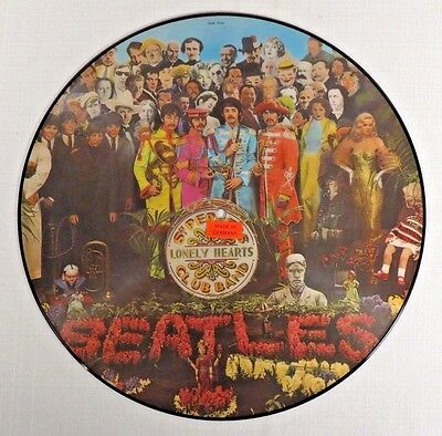 Beatles Sgt Pepper Picture Disc German Import Parlophone Pho-7027 Near Mint Cond