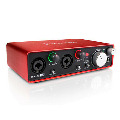 Focusrite Scarlett 2i2 Gen 2 USB Audio Interface with Mic Preamp
