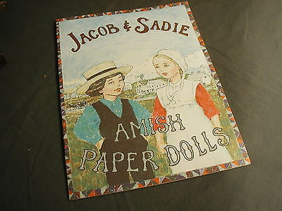 Amish Paper Dolls - Jacob & Sadie W/ 4 Pages Of Clothing - New - Lancaster Pa