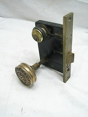 Vintage Brass Door Lockset Penn Hardware Reading PA Knob Mortise Lock